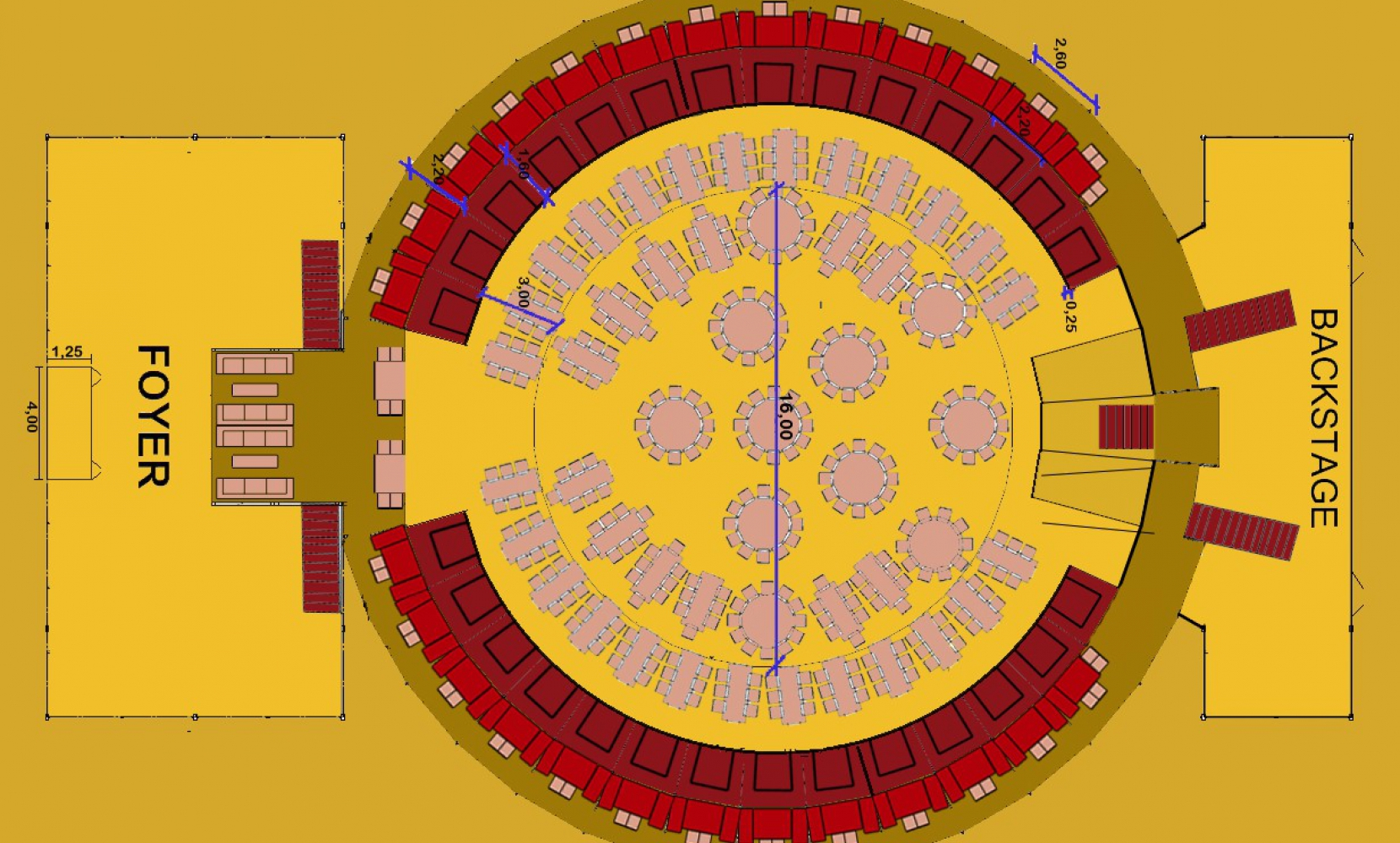 Het Spiegelpaleis - Mirror tent Queen Of Flanders - Seating Plan